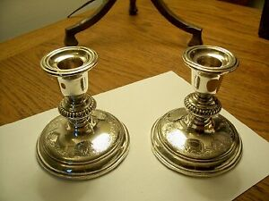 Birks Sterling Silver Candle Sticks – Pair