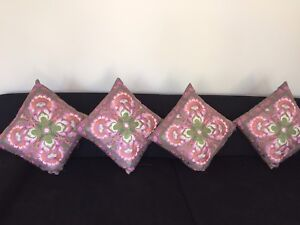 Embroidered Floral Cushions Set of 4 (NEW) West End Brisbane South West Preview
