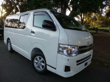 2012 Toyota Hiace Low Roof LWB 9 Seater GL White Automatic Van