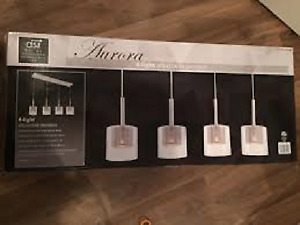 *** NEW IN THE BOX *** ADJUSTABLE PENDANT AURORA 4 LIGHT