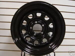 Black Mountain Jeep Wrangler Black Rock Wheel Combo 87-06 YJ TJ 84-01 XJ 5x4.5