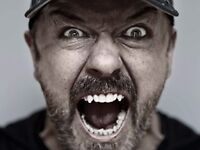 2x Ricky Gervais Tickets - Brighton Centre - Tuesday 9th May - 09.05.17 - East Stalls Row D