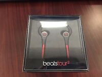 Beats tour 2 black in ear headphones (new and boxed)