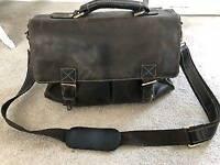 Italian Leather Briefcase/Satchel - BARGAIN £18