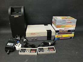 Nintendo NES Console With 8 BOXED COMPLETE Games MASTER BLASTER Mario CIB - BB4