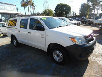 2006 Toyota Hilux TGN16R 06 Upgrade Workmate White 5 Speed Manual Dual Cab Pick-up