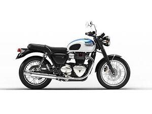 2018 Triumph Bonneville T100 Fusion White and Aegean Blue