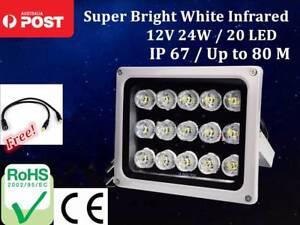 20 LED 12V Night Vision Lamp IR Illuminator Infrared Light CCTV Yagoona Bankstown Area Preview