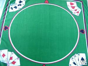 NEW IN SEALED PACKAGE - CASINO STYLE POKER BLANKET / THROW