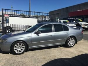 2003 Ford Fairmont BA GHIA LOW KLMS LEATHER Grey 4 Speed Automatic Sedan Underwood Logan Area Preview