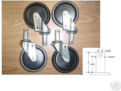 WHEEL AND STEM CASTER SET FOR  BAKERY RACKS