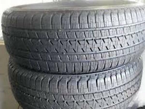 265/45R21  Set of 2 Bridgestone Used FREE Inst.&Bal.70%tread