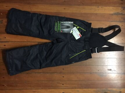Children Boys Ski/Snow Pants in Black Size 4 Water/Wind proof