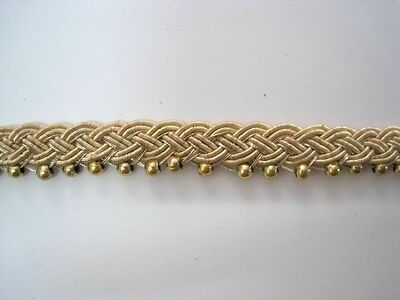 Handgearbeitete Borte Bouillon+Perlen Gold BO-GB-1184