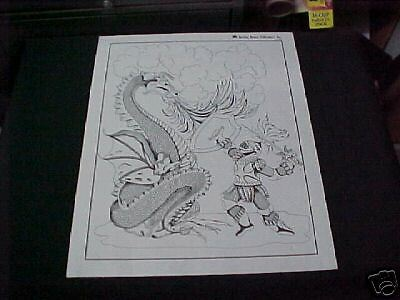 St. George & the Dragon Print,  Saint of Scouts      sg