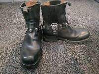 New Rock Black Leather CLASSIC BIKER Motorcycle Boots M.7621-s1 EU size 41