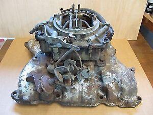Buick Nailhead 4bbl Carb & Intake Manifold.
