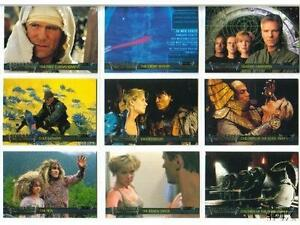 2001 STARGATE SG1 PREMIERE 72 CARD SET COVERS SEASON 1 TO 3