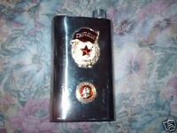 VINTAGE RUSSIAN FLASK STERLING SILVER CCCP STAMPED II WORLD WAR FOR COLLECTORS