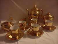 Royal Worcester Gold Lustre coffee set