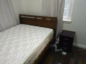 Solid timber queen size bed for sale free delivery free side tabl Narwee Canterbury Area Preview