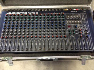 AUDIOPRO 1216 MIXER/AMP COMBO WITH CLYDESDALE ROAD CASE