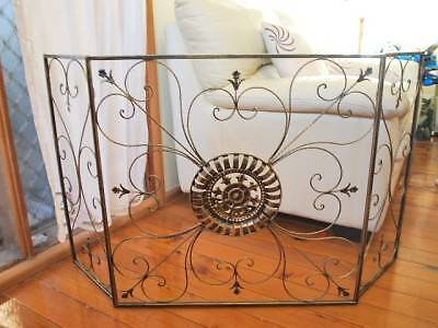 Hand Iron French Provincial Fireplace Guard NO MESH 001