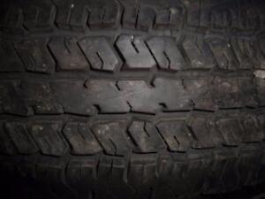 4 pneus d'été 235/75/17 Hankook Dynapro AT, 10% d'usure, mesure 12/32.