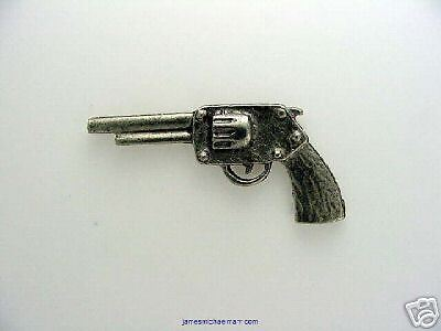 Pistol Hand Crafted Unique Design  Small Pewter Pin