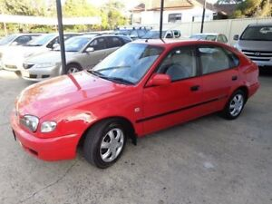 2000 Toyota Corolla AE112R Ascent Seca Red 4 Speed Automatic Liftback Sylvania Sutherland Area Preview