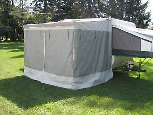 Trailer awning add-a-room