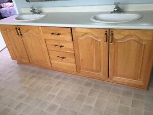 "80"" Double Sink Solid Wood Vanity"