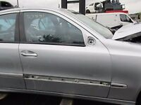 E CLASS 2008 W211 SILVER BREAKING FRONT DRIVERS DOOR BARE