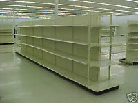 24ft long x 6ft high Lozier/Gondola shelving with 1 end unit