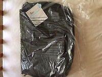 Mothercare messenger baby changing bag black