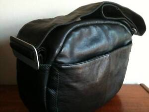 Luxury BUGABOO All Leather Baby Change Nappy Diaper Bag Black Bexley Rockdale Area Preview