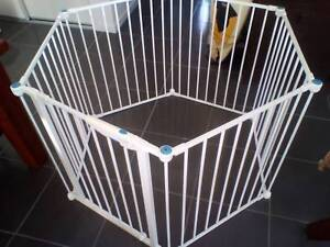 Metal Kids Play Pen Barrier with Playpen Gate and Mat Gold Coast Region Preview
