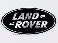 2 X Range Rover Black & Silver Sport Front Grille Badge Land Rover Black UK