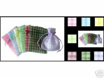 Mauve Organza Bags in Gingham! Gr8 4 Favors and (Gingham Organza Bag)