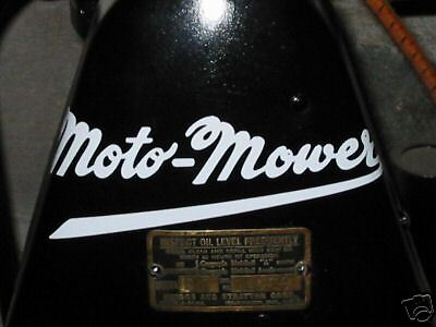 Moto-mower Decal Briggs Stratton Antique Engine