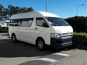 2010 Toyota Hiace TRH223R MY10 Commuter High Roof Super LWB White 4 Speed Automatic Bus Acacia Ridge Brisbane South West Preview