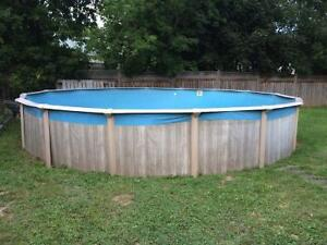 24' Pool with pump, filter, solar blankets etc