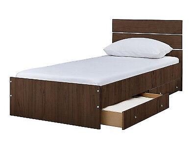 Bedford Single 2 Drawer Bed Frame - Walnut | in Bradford, West ...