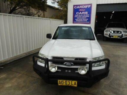2007 Ford Ranger PJ XL (4x2) White 5 Speed Manual Cab Chassis Macquarie Hills Lake Macquarie Area Preview