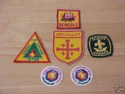 6 Worldwide Boy Scout patches                 j4