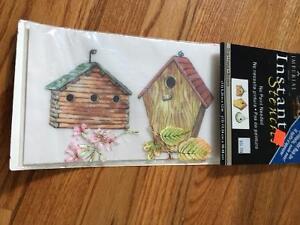 Bird House Stencils