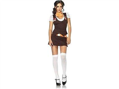 Leg Avenue Costume Cookie Scout 83849 Brown/Orange - Scout Kostüme