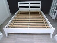 KING SIZE LOW WHITE BED FRAME