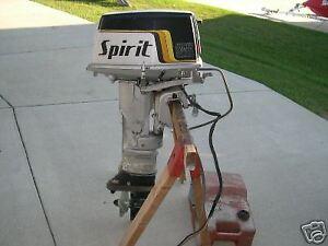 25hp Suzuki Spirit outboard motor w/ electric starter