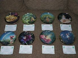 COMPLETE SET OF 'ENCHANTED GARDEN' BY MARY BAXTER ST CLAIR PORCELAIN PLATES